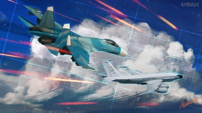 Общество: МО РФ рассказало о перехвате Су-27 бомбардировщиков ВВС США над Черным и Балтийским морями