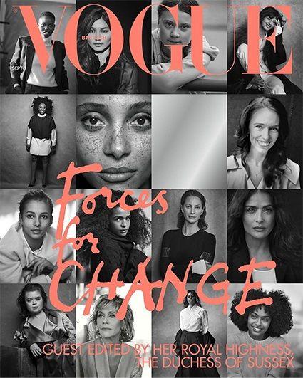 Общество: Меган Маркл поработала редактором и представила обложку британского Vogue (ФОТО) рис 2