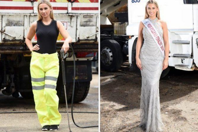 Общество: Англия Мисс Красота Конкурс Девушка: 19-летняя британская красотка-грузчица своей профессией вызвала бурную реакцию у общественности