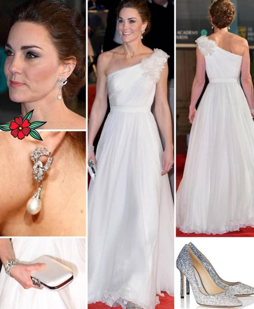 Без рубрики: Кейт Миддлтон восхитила нарядом невесты на церемонии BAFTA: появились фото и видео рис 4