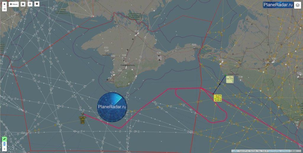 Британский самолет-разведчик облетел оккупированный Крым