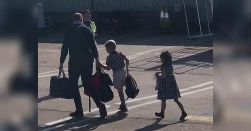 Общество: Кейт Миддлтон и принц Уильям с детьми вылетели в Шотландию бюджетным коммерческим рейсом на фоне скандала с Меган Маркл - смотреть фото и видео