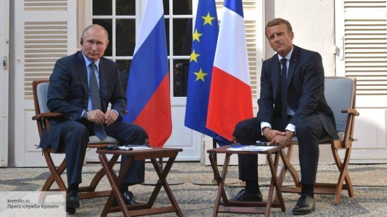 Общество: Британские СМИ рассказали, как слова Путина о G8 заставили «съежиться» Макрона