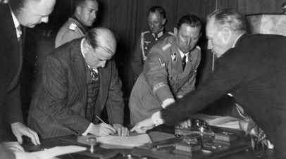 Подписание Мюнхенского договора, 1938 год