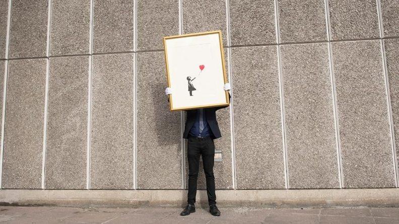 Общество: Стартовали онлайн-торги принтов работ британского художника Бэнкси
