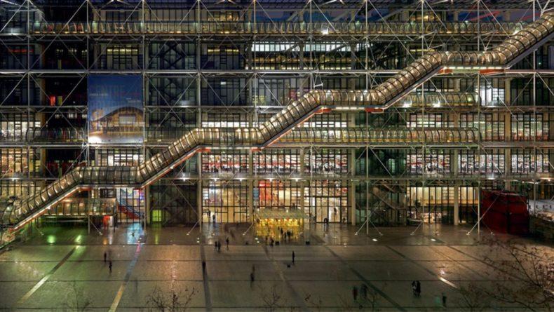 Общество: В парижском Центре Помпиду посетитель ударил ножом картину Даниэля Бюрена