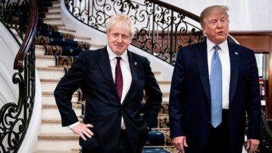 Общество: СМИ узнали о договоренности Джонсона и Трампа заключить торговую сделку