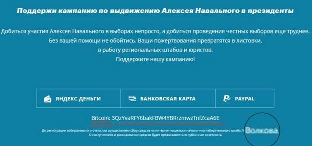 Почему навальновские миллионы приходят на счет Леониду Волкову?