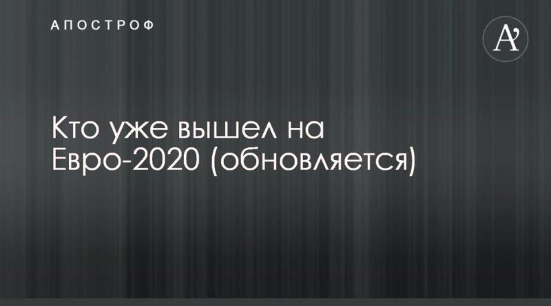 Общество: Кто уже вышел на Евро-2020 (обновляется)