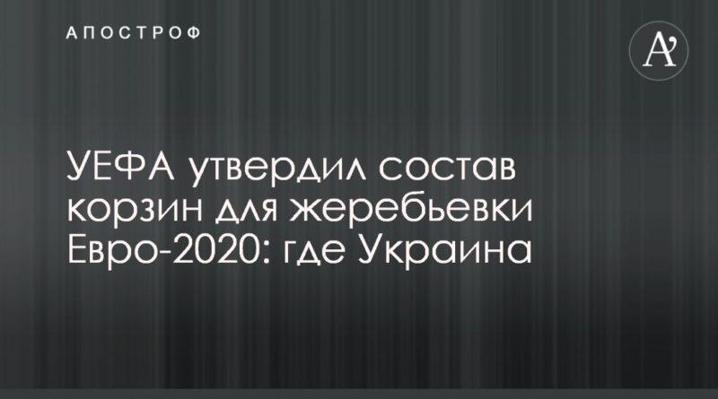 Общество: УЕФА утвердил состав корзин для жеребьевки Евро-2020: где Украина