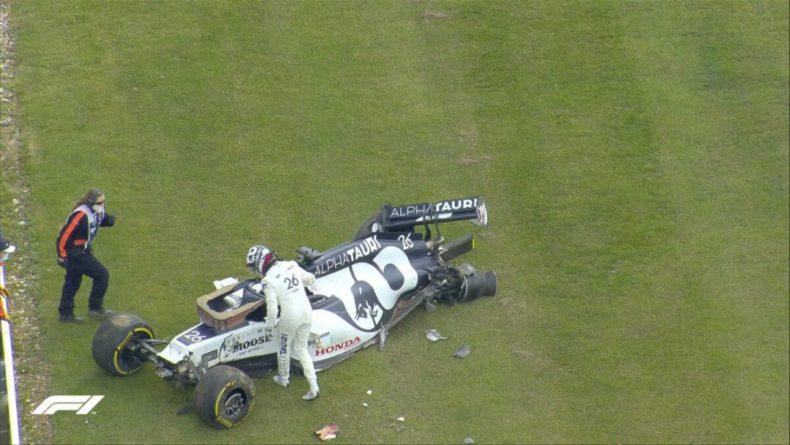 Общество: Даниил Квят назвал причину жесткой аварии на Гран-при Великобритании