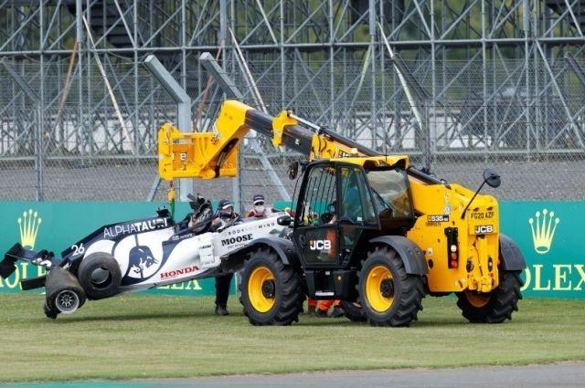 Общество: Квят назвал причину своей аварии во время Гран-при Великобритании