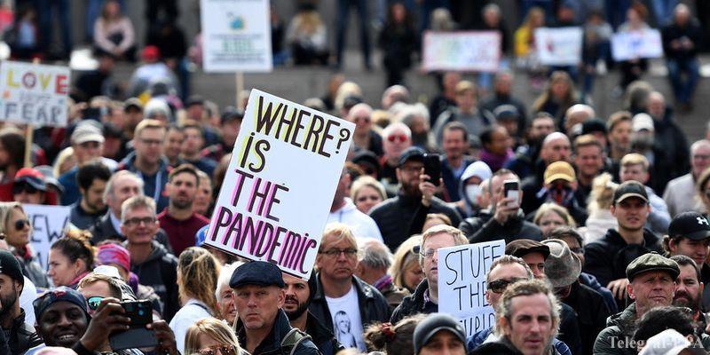 Общество: Протесты в Лондоне - тысячи людей не согласны с карантинными ограничениями - ТЕЛЕГРАФ