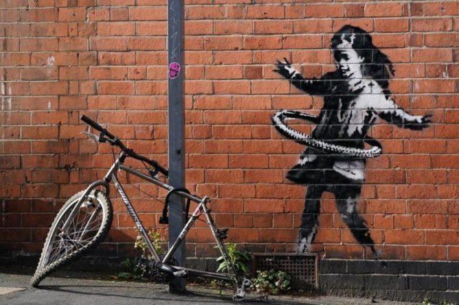 Общество: В Британии появилось новое граффити Бэнкси – фото