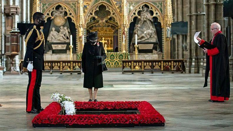 Общество: Елизавета II и Борис Джонсон почтили память павших в войнах