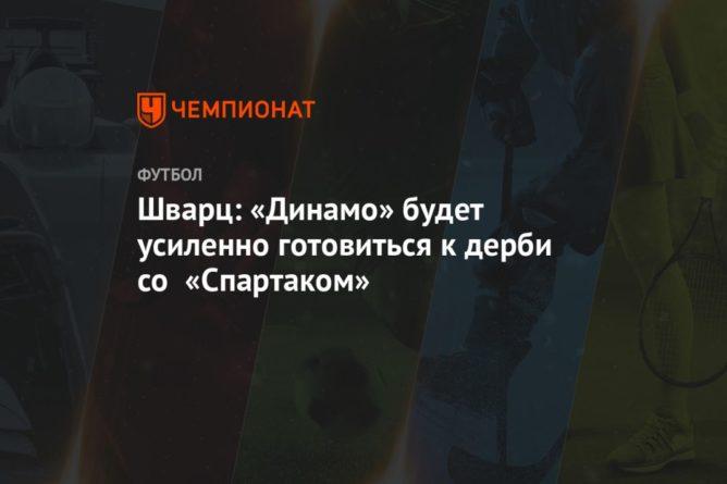 Общество: Шварц: «Динамо» будет усиленно готовиться к дерби со «Спартаком»