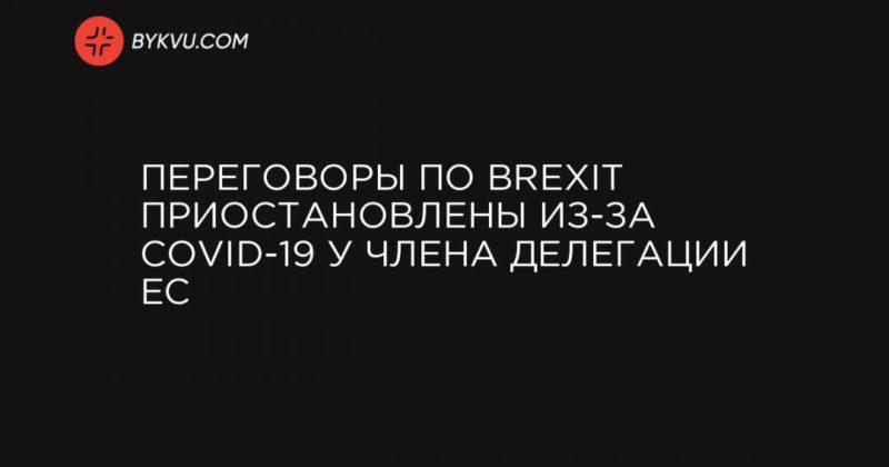 Общество: Переговоры по Brexit приостановлены из-за COVID-19 у члена делегации ЕС