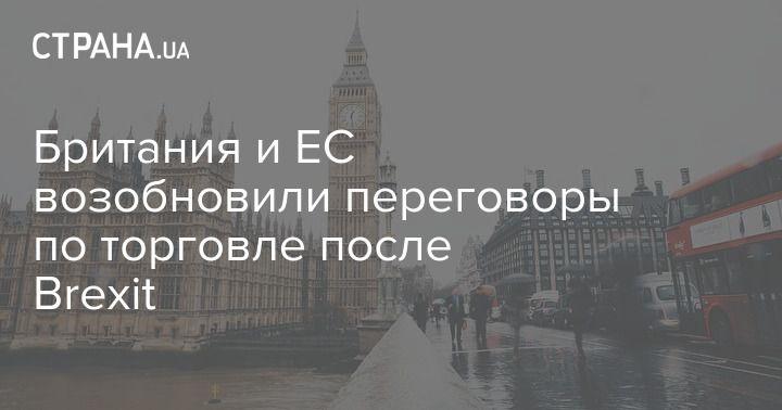 Общество: Британия и ЕС возобновили переговоры по торговле после Brexit