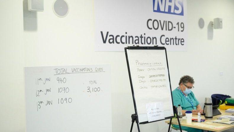Общество: В Британии сделано 3 млн прививок от коронавируса