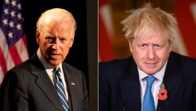 Общество: Премьер Британии стал третьим, кому позвонил Байден