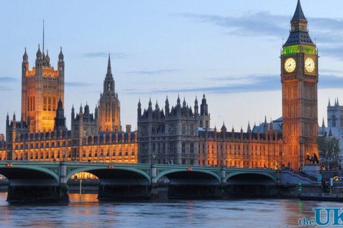 Общество: В здании парламента Британии произошел пожар. Видео