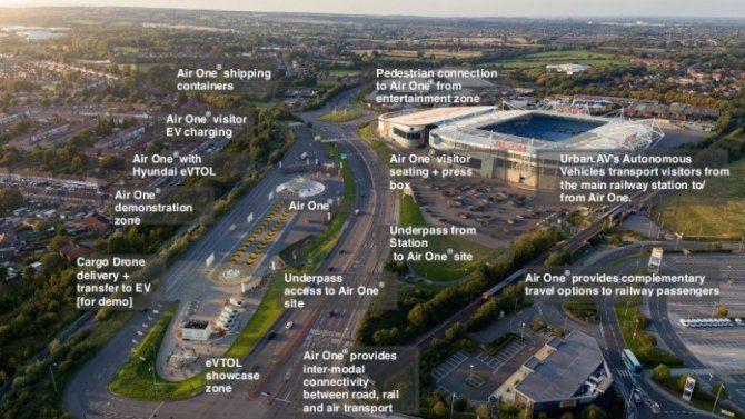 Общество: Hyundai построит в Великобритании первый в мире порт для аэротакси