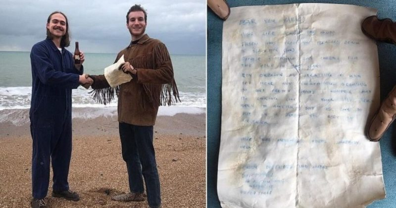 Общество: В Британии выловили письмо в бутылке, брошенное в море 60 лет назад