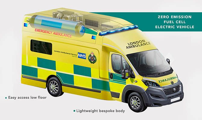 Общество: В Лондоне появится машина скорой помощи на водороде