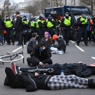 Общество: На акциях в Лондоне задержаны более 100 человек