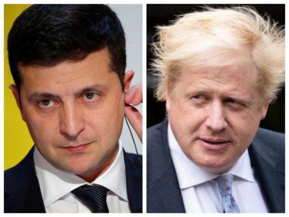 Общество: Зеленский обсудил с премьером Великобритании ситуацию с безопасностью на Донбассе