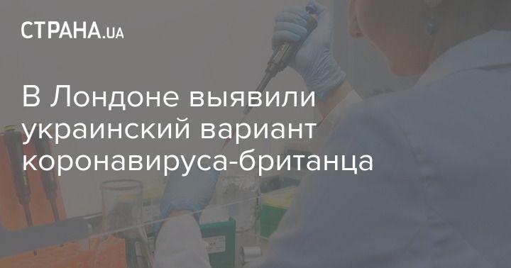 Общество: В Лондоне выявили украинский вариант коронавируса-британца