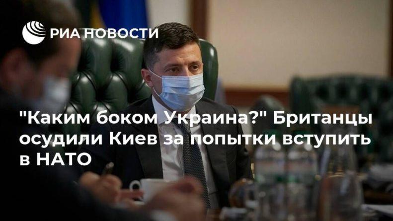 """Общество: """"Каким боком Украина?"""" Британцы осудили Киев за попытки вступить в НАТО"""