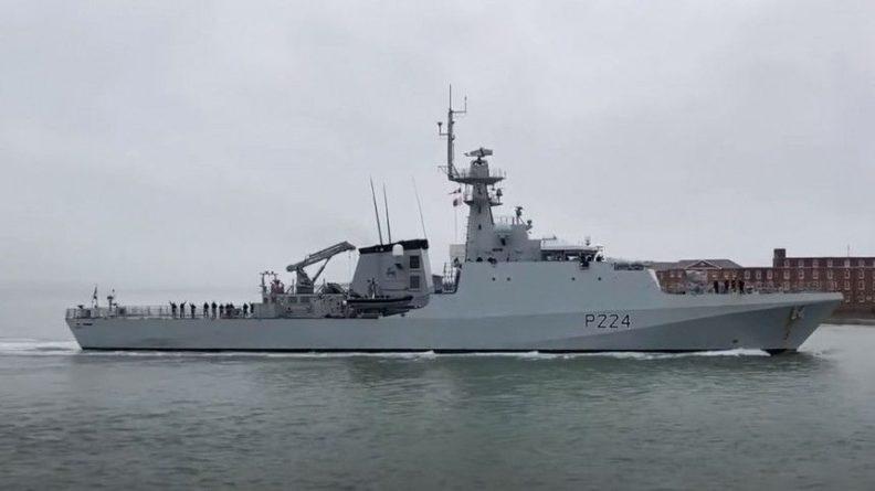 Общество: Черноморский флот следит за патрульным кораблем Trent ВМС Британии