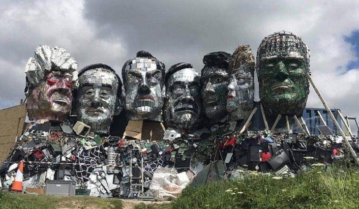 Общество: На юге Англии лидеров G7 «сделали» их электронного мусора