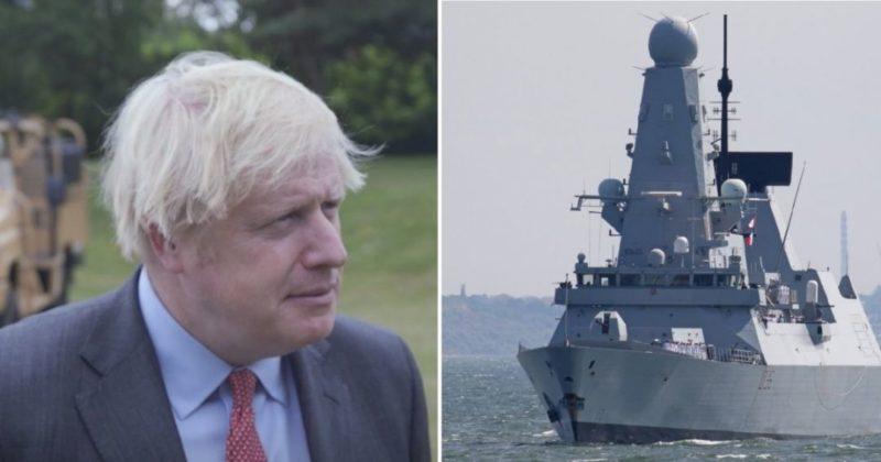 """Общество: """"Не признаем аннексию Крыма, это воды Украины"""", - Джонсон об инциденте с эсминцем Defender"""
