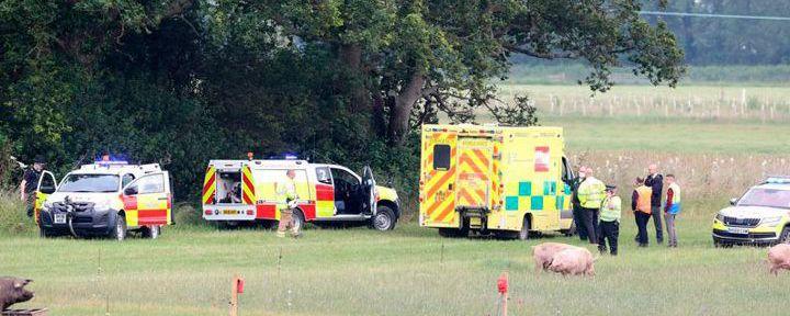 Общество: В Англии при крушении самолета погибли два человека