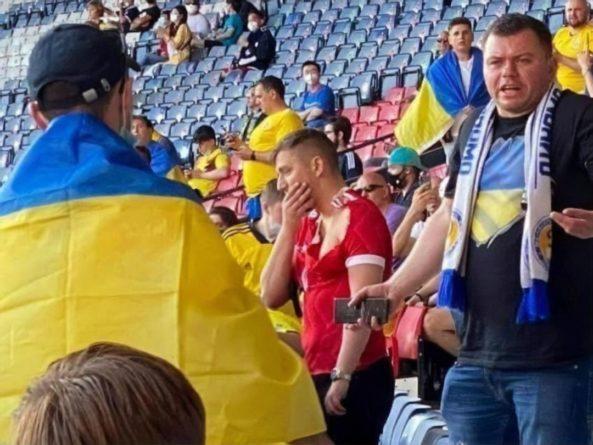 Общество: Посольство РФ в Великобритании обратилось в полицию по поводу фаната, который пришел на матч Украины и Швеции с российским флагом и в шапке-ушанке