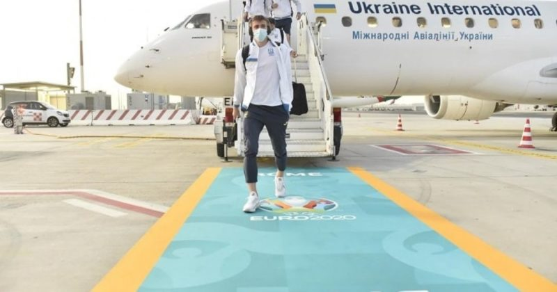 Общество: К Англии готовы: сборная Украины прилетела на матч в Рим