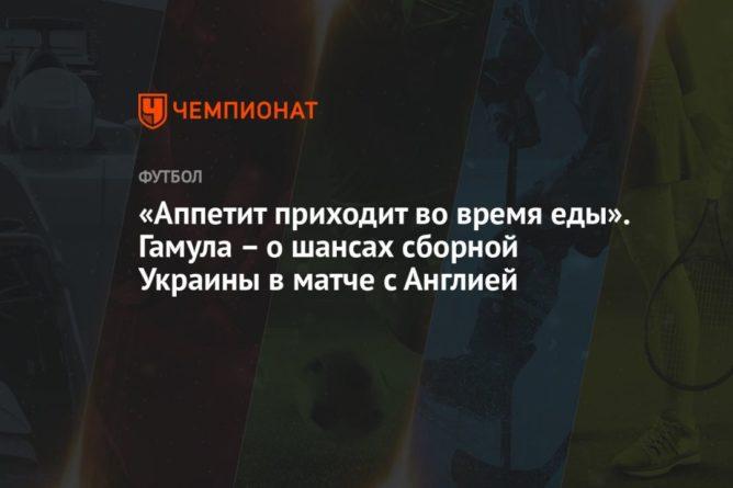 Общество: «Аппетит приходит во время еды». Гамула – о шансах сборной Украины в матче с Англией