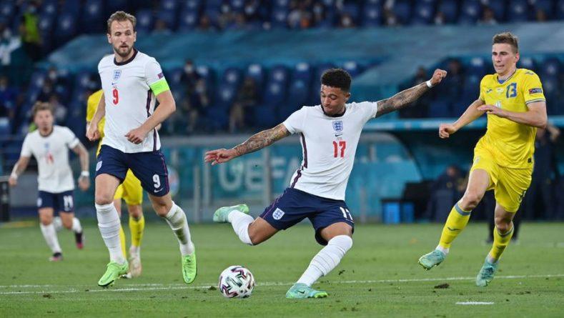 Общество: Сборная Англии довела счет до 4:0 в матче с Украиной на Евро