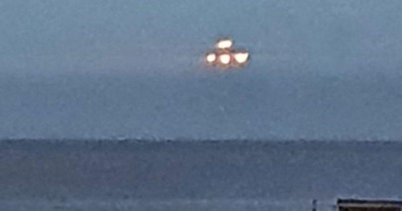 Общество: В Британии удалось сфотографировать парящий над морем НЛО