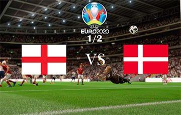Общество: Англия – Дания: после первого тайма счет 1:1