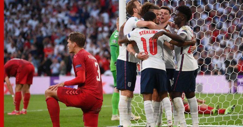 Общество: Англия вышла в финал Евро-2020, обыграв Данию в дополнительное время