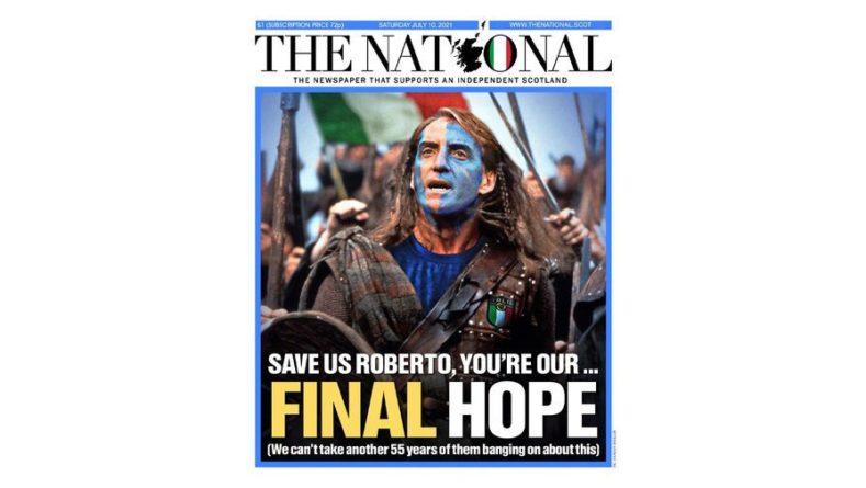 Общество: Шотландская газета необычно поддержала Италию перед матчем с Англией в финале Евро