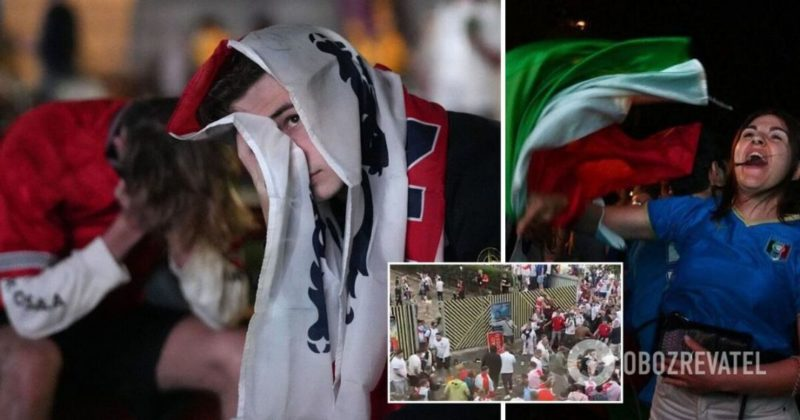 Общество: Евро-2020: Англия проиграла Италии – беспорядки фанатов на стадионе Уэмбли – фото