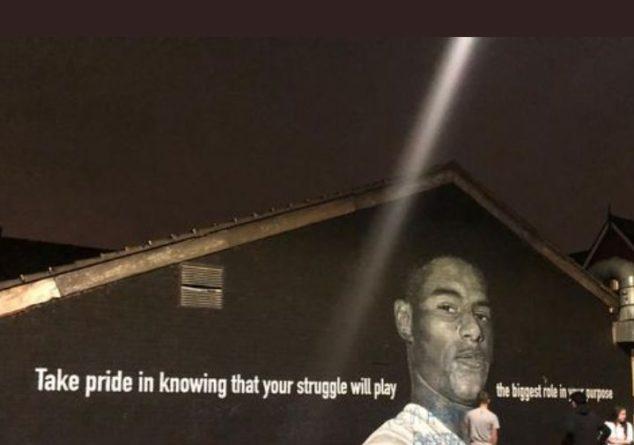 Общество: На граффити с изображением Рашфорда в Манчестере появилась оскорбительная надпись