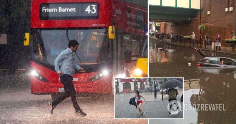 Общество: Потоп в Лондоне: затоплены улицы и метро – фото, видео