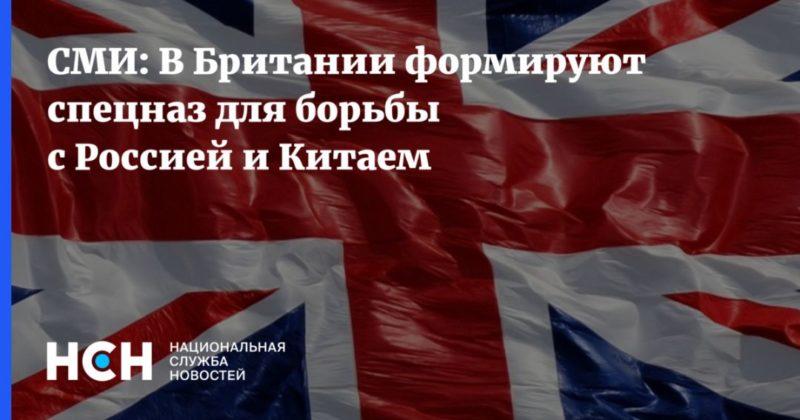 Общество: СМИ: В Британии формируют спецназ для борьбы с Россией и Китаем