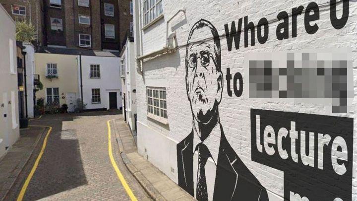 Общество: Граффити с портретом Лаврова в Лондоне оказалось фейком
