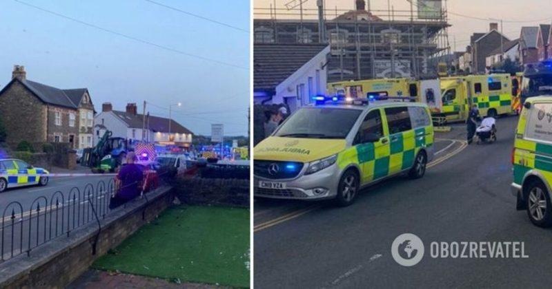 Общество: В Британии 79-летний водитель влетел в толпу возле паба, много пострадавших. Фото